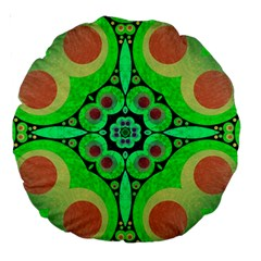 Neon Green  18  Premium Round Cushion  by OCDesignss