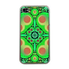 Neon Green  Apple Iphone 4 Case (clear) by OCDesignss