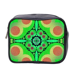 Neon Green  Mini Travel Toiletry Bag (two Sides) by OCDesignss