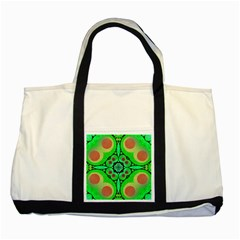 Neon Green  Two Toned Tote Bag by OCDesignss