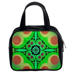 Neon Green  Classic Handbag (two Sides) by OCDesignss