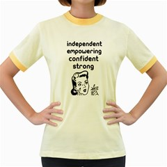 Retro Confidence  Women s Ringer T-shirt (colored) by OCDesignss