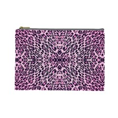 Pink Leopard  Cosmetic Bag (large)