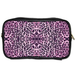 Pink Leopard  Travel Toiletry Bag (one Side) by OCDesignss