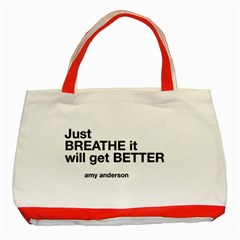 Just Bresthe Classic Tote Bag (red) by OCDesignss