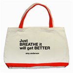 Just Bresthe Classic Tote Bag (Red) Front