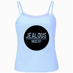 Jealous Much Baby Blue Spaghetti Tank by OCDesignss