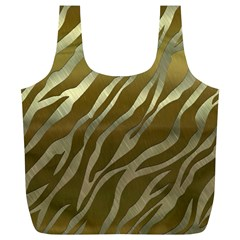 Metal Gold Zebra  Reusable Bag (xl) by OCDesignss