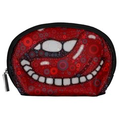Yummy Red Lips Accessory Pouch (large) by OCDesignss