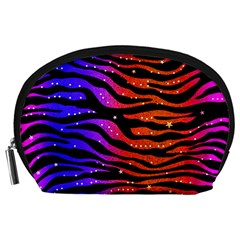 Rainbow Zebra  Accessory Pouch (large) by OCDesignss