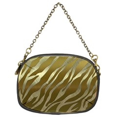 Metal Gold Zebra  Chain Purse (two Sided)