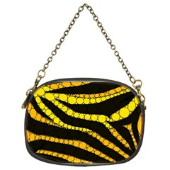 Yellow Bling Zebra  Chain Purse (two Sided)  by OCDesignss