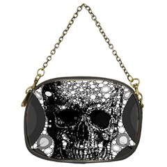 Skull Abstract Chain Purse (two Sided)