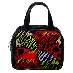 Crazy Animal Print Lady  Classic Handbag (one Side) by OCDesignss