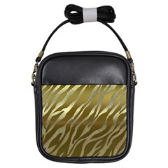 Metal Gold Zebra  Girl s Sling Bag by OCDesignss