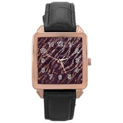 Lavender Gold Zebra  Rose Gold Leather Watch  by OCDesignss