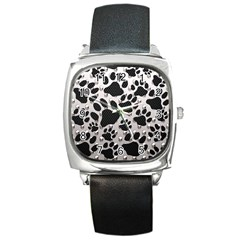 Paws On Me  Square Leather Watch by OCDesignss