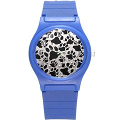 Paws On Me  Plastic Sport Watch (small) by OCDesignss