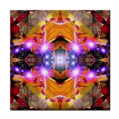 Abstract Flower Ceramic Tile by icarusismartdesigns