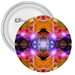 Abstract Flower 3  Button by icarusismartdesigns