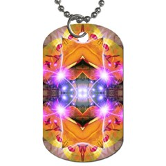 Abstract Flower Dog Tag (one Sided) by icarusismartdesigns