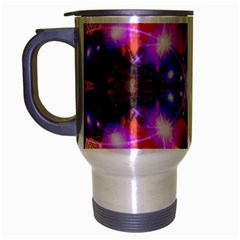 Abstract Flower Travel Mug (silver Gray) by icarusismartdesigns
