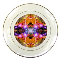Abstract Flower Porcelain Display Plate by icarusismartdesigns