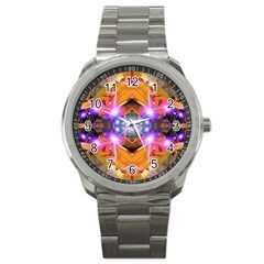 Abstract Flower Sport Metal Watch by icarusismartdesigns