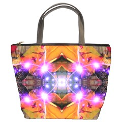 Abstract Flower Bucket Handbag by icarusismartdesigns