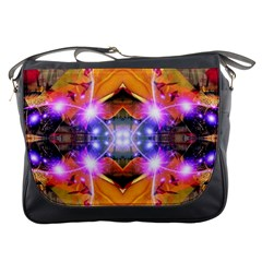 Abstract Flower Messenger Bag