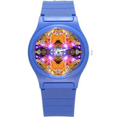 Abstract Flower Plastic Sport Watch (small)