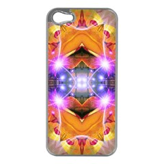 Abstract Flower Apple Iphone 5 Case (silver) by icarusismartdesigns