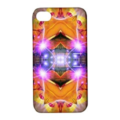 Abstract Flower Apple Iphone 4/4s Hardshell Case With Stand by icarusismartdesigns