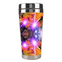 Abstract Flower Stainless Steel Travel Tumbler by icarusismartdesigns