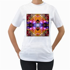 Abstract Flower Women s T Shirt (white)  by icarusismartdesigns