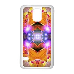 Abstract Flower Samsung Galaxy S5 Case (white) by icarusismartdesigns