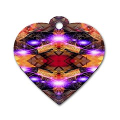 Third Eye Dog Tag Heart (two Sided) by icarusismartdesigns