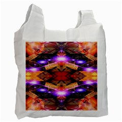 Third Eye White Reusable Bag (one Side) by icarusismartdesigns