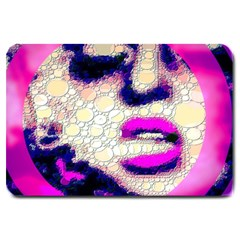 Lady With A Attitude  Large Door Mat by OCDesignss