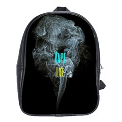 Vape Life Clouds  School Bag (large) by OCDesignss