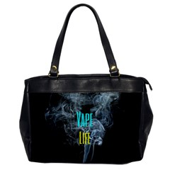 Vape Life Clouds  Oversize Office Handbag (one Side) by OCDesignss