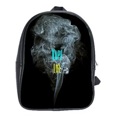 Vape Life Clouds  School Bag (xl) by OCDesignss