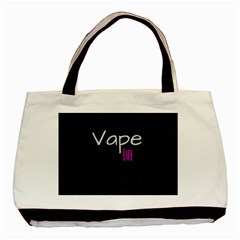 Vape Life Twirlz Twin Sided Black Tote Bag by OCDesignss