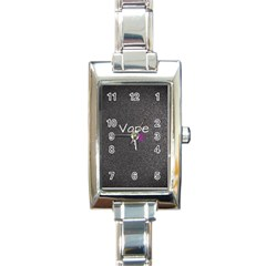 Vape Life  Rectangular Italian Charm Watch by OCDesignss