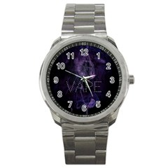 Vape Purple Smoke  Sport Metal Watch