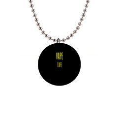 Vape Life Yellow  Button Necklace by OCDesignss