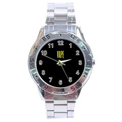 Vape Life Yellow  Stainless Steel Watch