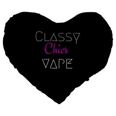 Classy Chics Vape  Large Flano Heart Shape Cushion by OCDesignss