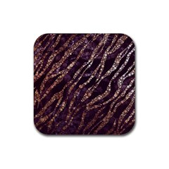 Lavender Gold Zebra  Drink Coasters 4 Pack (square) by OCDesignss