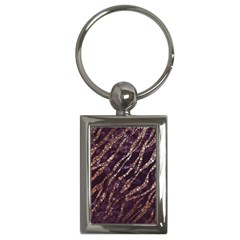 Lavender Gold Zebra  Key Chain (rectangle) by OCDesignss